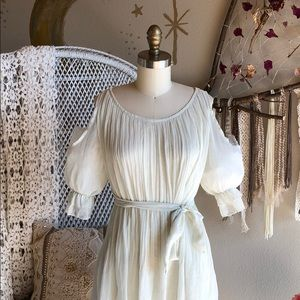 Dresses & Skirts - Ivory Sheer Baby Doll Dress